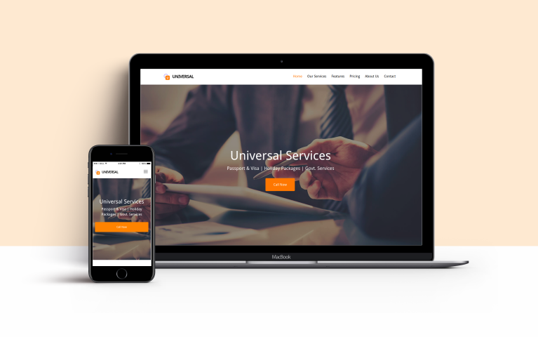 Website of univesal services